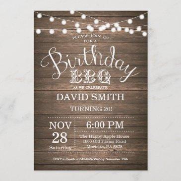 birthday bbq invitation rustic 20th birthday
