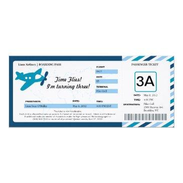 birthday boarding pass ticket invitation