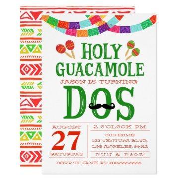 birthday fiesta - turning dos! invitations