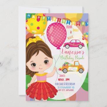 birthday parade 1 invitation