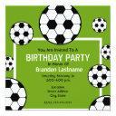 birthday party - soccer field & soccer balls invitations