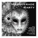black and white masquerade party invitation