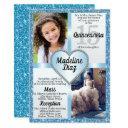 blue cinderella quinceañera invitation cumpleaños