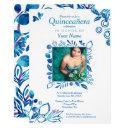 blue crystal quinceañera, cinderella quinceanera invitation