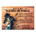 bluegrass barbecue bbq birthday party invitations