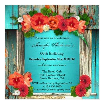 bohemian chic adult birthday party invitations