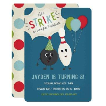bowling birthday invitations | bowling invite