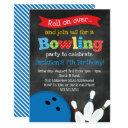 bowling birthday party - chalkboard invitations