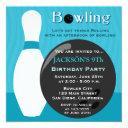 bowling boy birthday party invitation
