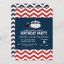 bowling chevron sport birthday boy invitation