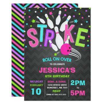bowling invitations bowling birthday party strike