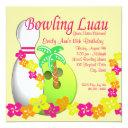 bowling luau invitations
