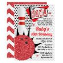 bowling party retro pin up tenpin invitation