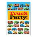 boys 3rd birthday construction truck party invitation