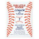 boy's baseball birthday party invitation