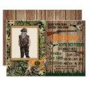 boys deer hunting birthday invitations