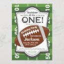 boy's first birthday football touchdown all star invitation