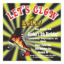 boys glow in the dark roller skating party invites