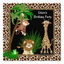 boys safari birthday party invitations