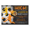 boy's soccer birthday invitation - let's kick it