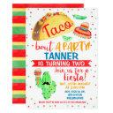 boys taco bout a party birthday invitation