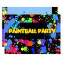 bright, colorful neon, paintball party invitation