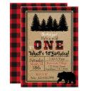 buffalo plaid birthday invitation