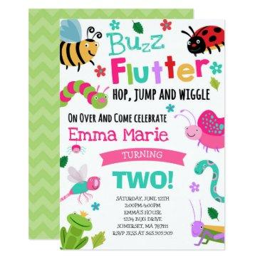 bugs birthday invitations girl pink bugs party