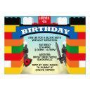 building blocks castle birthday invitations