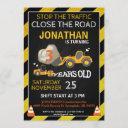 bulldozer construction party invitation