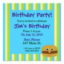 burger birthday party invitations