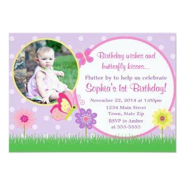 butterfly birthday invitation photo invitations