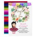 cactus fiesta birthday floral mexico invitations
