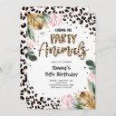 calling all party animals leopard print birthday invitation