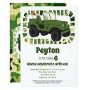 camo army military boys birthday party invitation