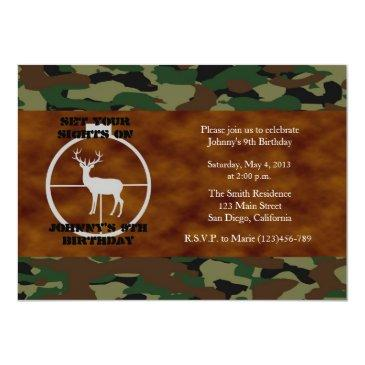 camo birthday boy invitations - customized