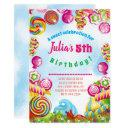 candy dreams birthday party invitation