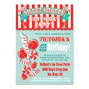 candy sweet shoppe birthday party invitation