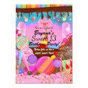 candyland party fantasy candy cupcakes flyer invitations