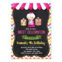 candyland shop birthday invitation