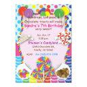 candyland sweets invitations