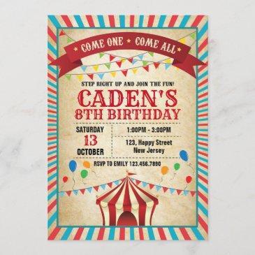 carnival birthday invitation