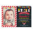 carnival circus animals birthday party invitations