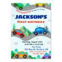 cars birthday invitation boy transportation invite