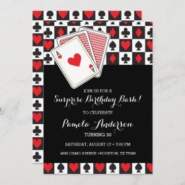 casino playing invitations birthday invitation