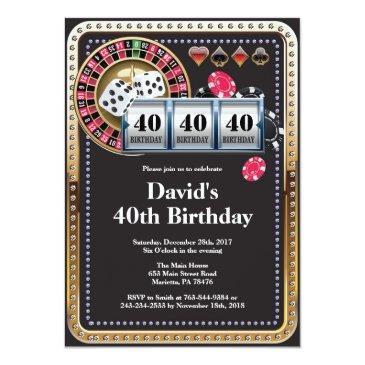 casino poker playing invitations birthday invitation