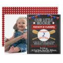 chalkboard baseball photo birthday invitation