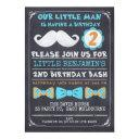 chalkboard mustache 2nd birthday invitations