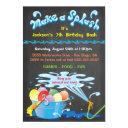 chalkboard water balloon birthday pool invitation
