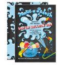 chalkboard water balloon war birthday party invitation